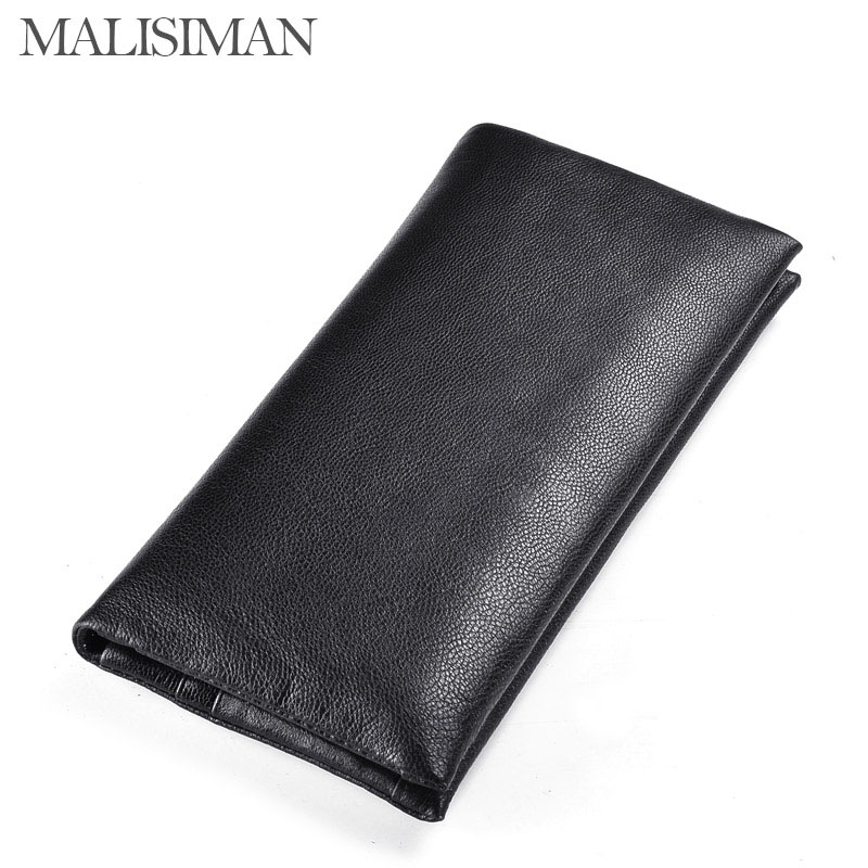 Malisiman Men Genuine Leather First Layer Sheepskin Wallet Gradient Color Portable Long Purse Capacity Casual Hasp mens wallets<br><br>Aliexpress