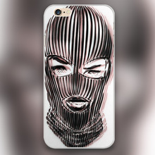 Badwood 3D Ski Mask Design transparent case cover cell mobile phone cases for Apple iphone 4 4s 5 5c 5s 6 6s 6plus hard shell