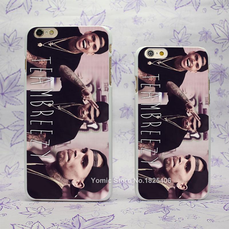 team breezy Chris Brown Design hard White Skin Case Cover for Apple iPhone 4 4s 4g 5 5s 5c 6 6s 6 Plus 6splus(China (Mainland))