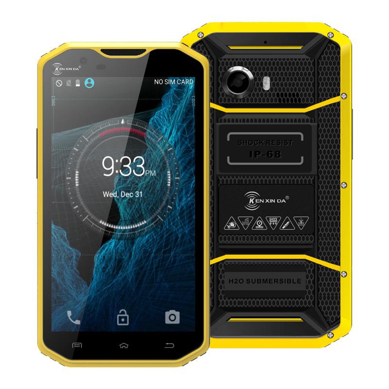 Original Ken Xin Da Proofing W8 Waterproof Phone 5.5'' Andriod 5.1 MTK6753 Octa Core 16G+2G Dual SIM 4G LTE Mobile Phone(China (Mainland))