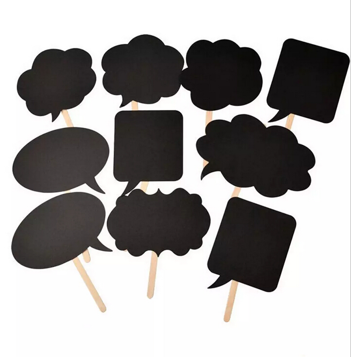 Photo Booth Prop Chalk Board Wedding Party DIY Write On Stick Photography 10Pcs/Set 2016 New Fashion Cheapest Brand NewParty fun(China (Mainland))