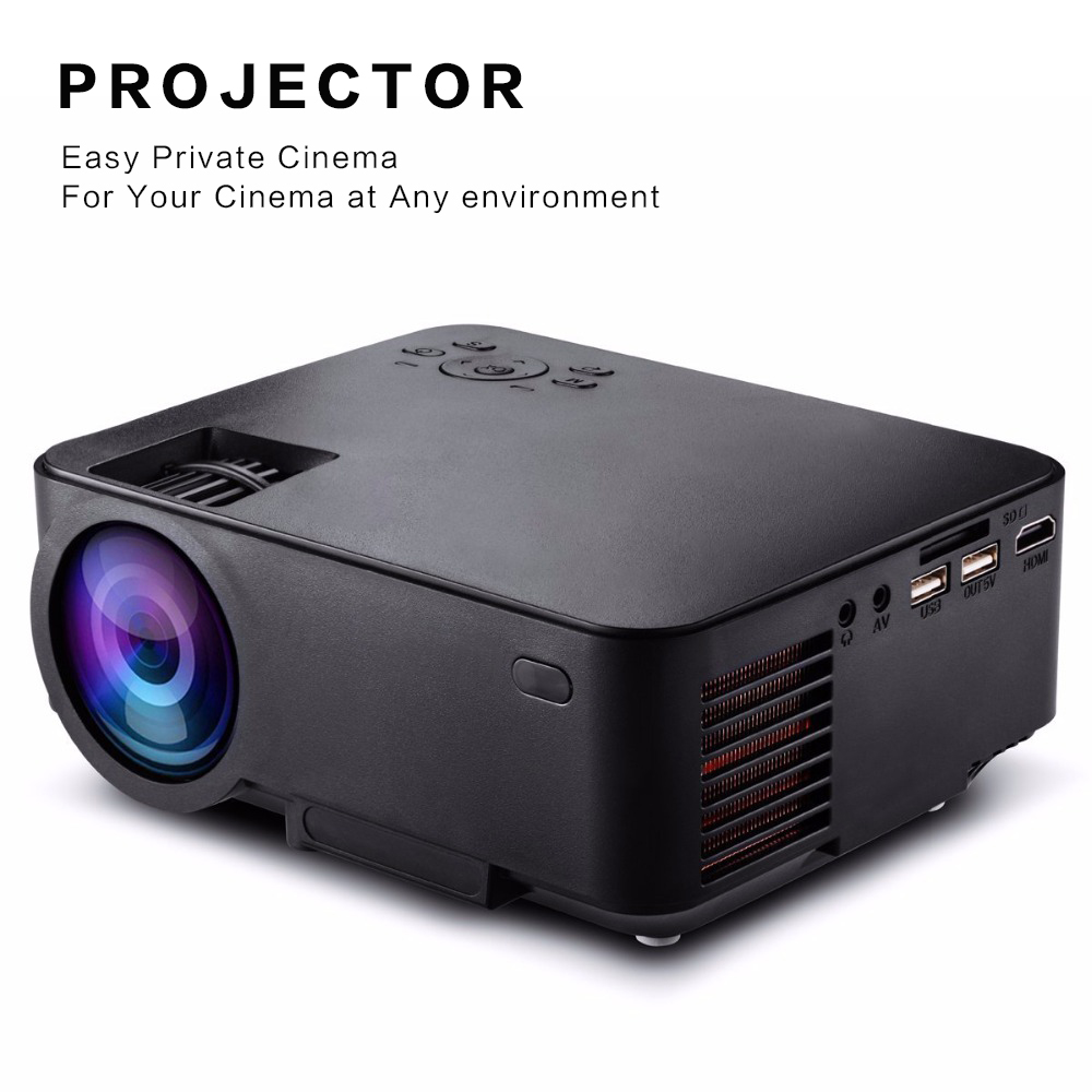 DH-mini290 1500 Lumens LCD Video Projector LED Portable Home Theater Beamer with HDMI USB AV VGA SD Build-in Speaker Proyector(China (Mainland))