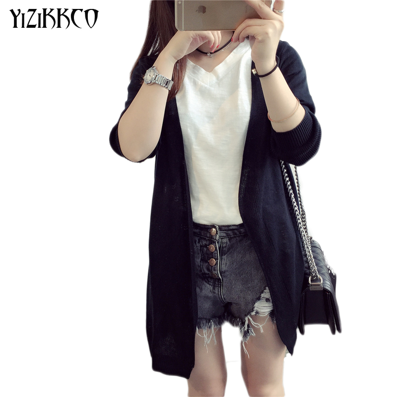Autumn 5 Colors Thin Air-conditioned shirt Cardigans Women 2016 Brand Fashion Full Sleeve Sweaters Casual Women Clothing YW22(China (Mainland))