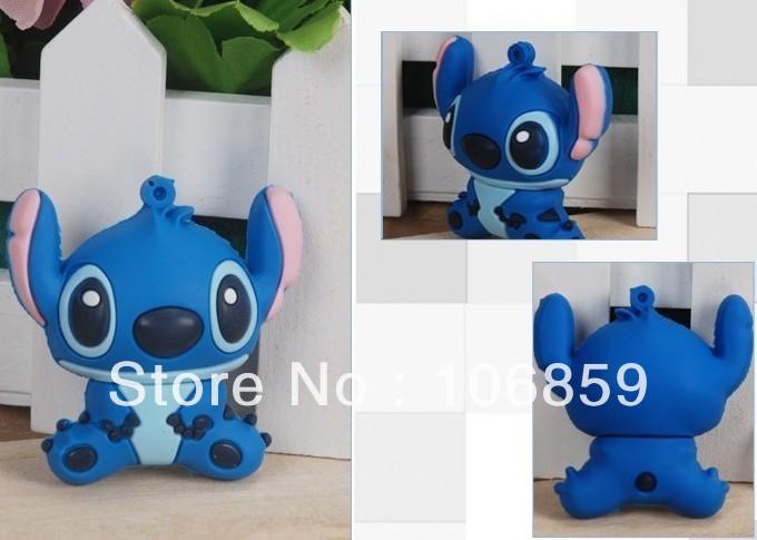 Hot selling usb memory drive Cute cartoon rubber flash memory usb +50pcs/lot +Mix models +mix colours +Free shipping(China (Mainland))