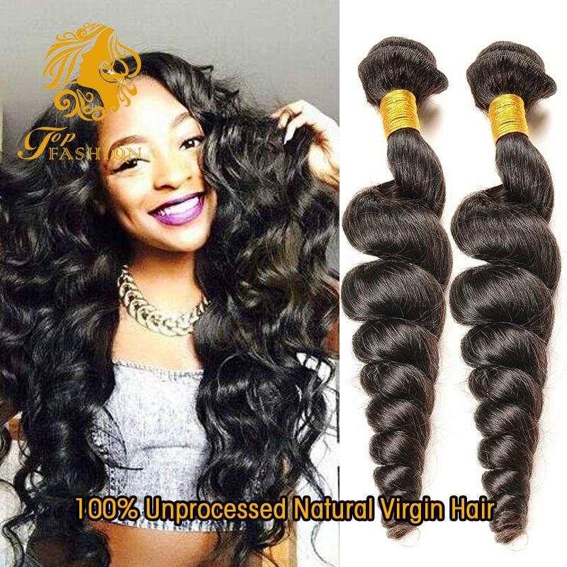 Virgin Peruvian Loose Wave 4Pcs/Lot Puruvian Hair Bundles Unprocessed 7A Peruvian Loose Wave Virgin Hair Human Hair Extensions