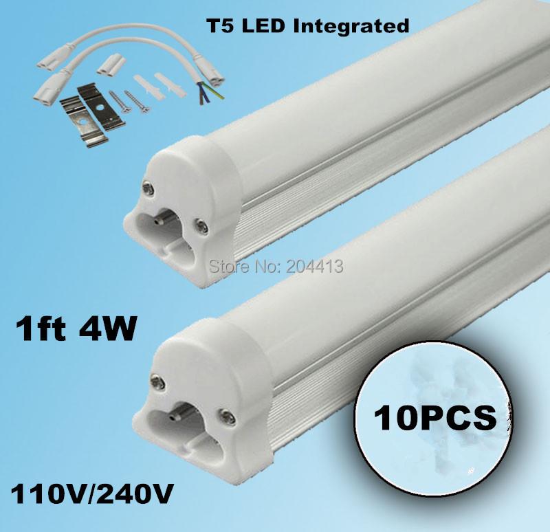 Здесь можно купить  10pcs/ lot T5 led tube lamps 4w tube light 300-400lm 1ft/300mm light bulb led fluorescent lamp Free Shipping  Свет и освещение