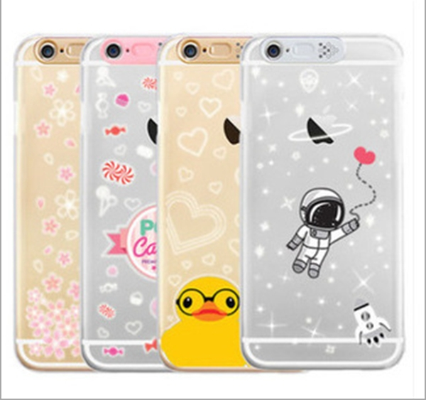 """Cellphone flash Case Cell phone Luminous for Iphone6 4.7""""&6 Plus 5.5"""" Slim Transparent Case Bling While Call phone cases SJK-141(China (Mainland))"""