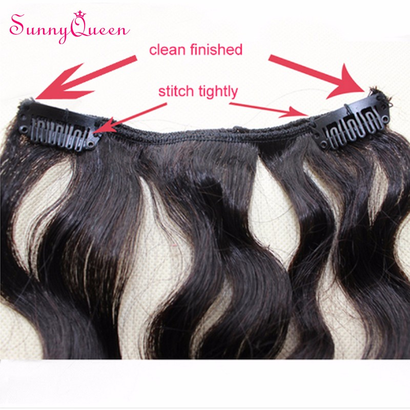 Clip In Human Hair Extensions 6A Malaysian Virgin Hair Loose Wave Human Hair Clip In Extensions African American Curly Clip Ins