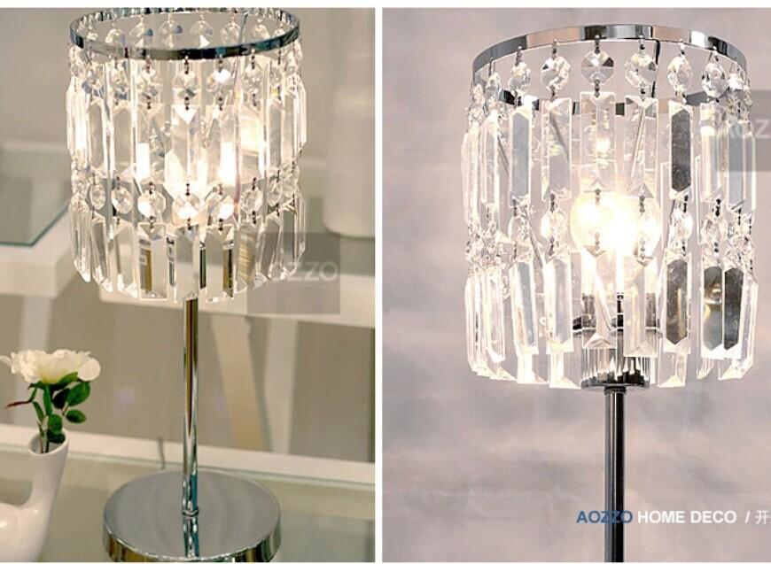 K9 Crystal Table Lamp Home Office Bedroom Lampshade Decoration Luminaire E27 240V(China (Mainland))