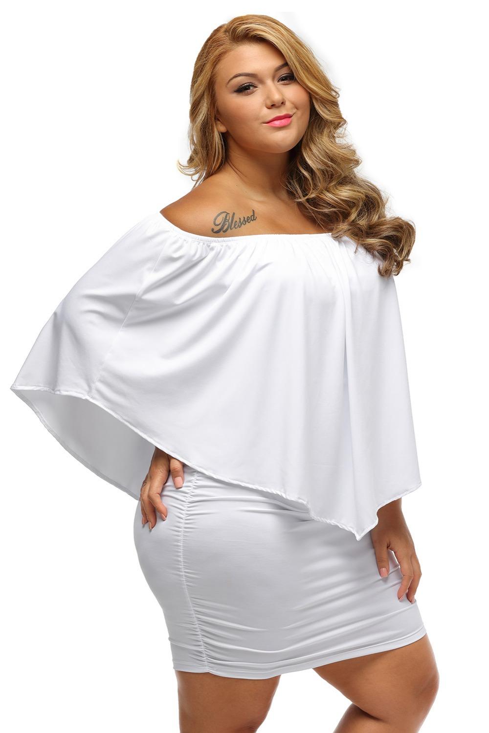 Gosopin Off Shoulder Dresses Plus Size Multiple Dressing ...