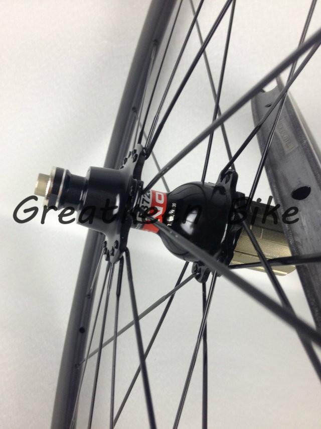 Велосипедное колесо Greatkeenbike 50 laufr der drahtreifen/laufradsatz mit 3k gl nzend kohlenstoff r der mit malerei, Radfahren r der