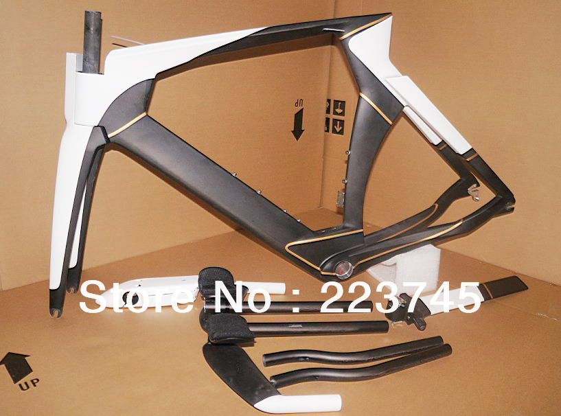 Hot Sale 51 54 57cm Carbon Time Trial Frame Carbon Road TT Frame Carbon Bicycle Frame Fork Stem Time Trial bar Seatpost Headset(China (Mainland))