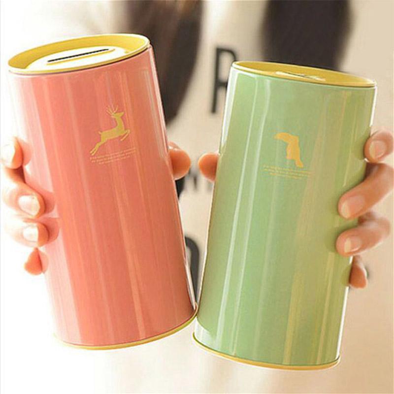 Animal tinplate tea leaves Coin Piggy Bank 14.5*7.5cm Money Saving Box Moneybox Gifts for Kids(China (Mainland))