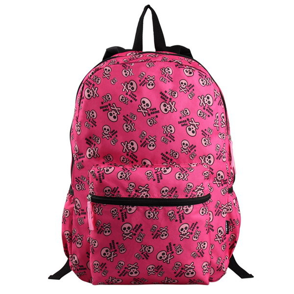 VEEVAN $9.99 Free Shipping New Arrival Women Printing Backpak Skull Satchel School For Girls Book Bags Student Children Backpack(China (Mainland))