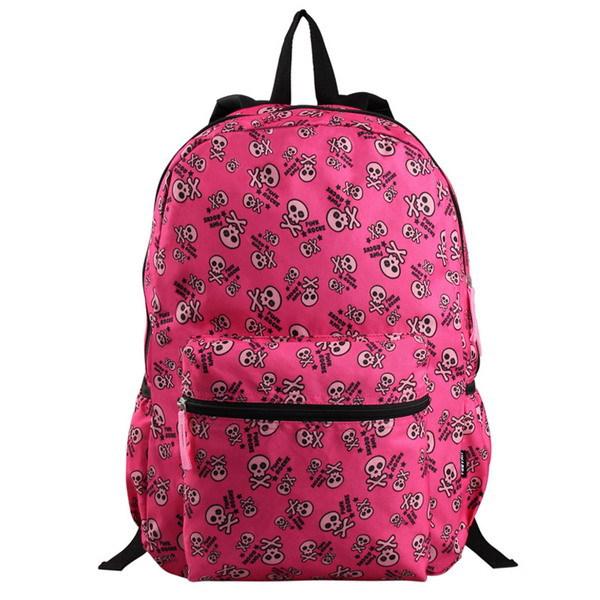 VEEVAN $9.99 Free Shipping New Arrival Women Printing Backpak Skull Satchel School For Girls Book Bags Student Children Backpack(China (Mainland))