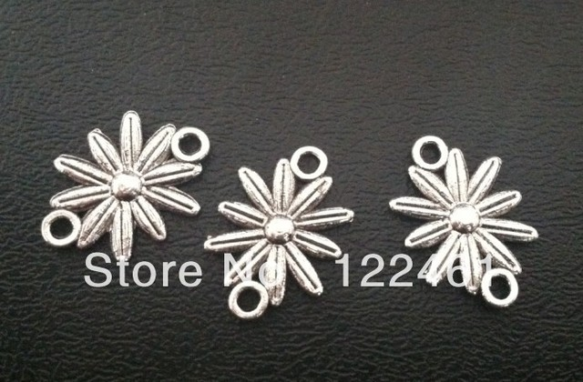Fashion Jewelry Findings,Accessories,charm,pendant,Alloy Antique Silver Flower Connector