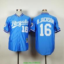 Cheap Kansas City Royals Jersey Men 16 Bo Jackson 2015 Cool Base & 1974 Throwback &1980 Throwback Baseball Jersey(China (Mainland))