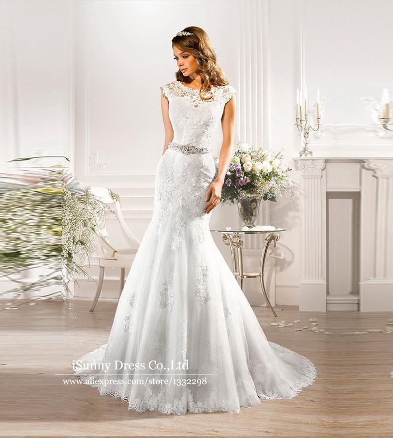Designer mermaid wedding dresses with deep v back lace for Deep v back wedding dress