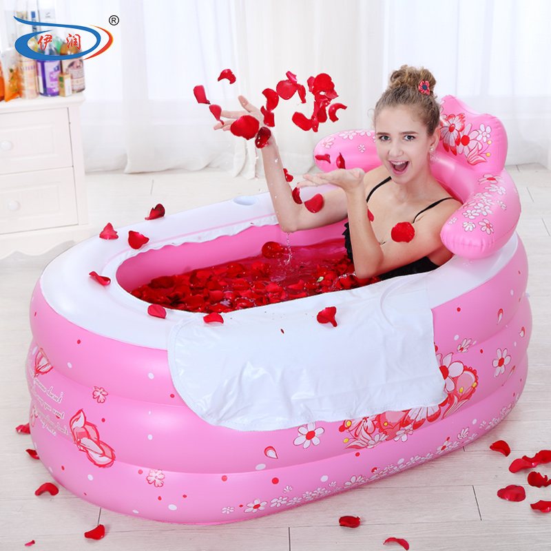 Thick foldable inflatable plastic bath tub, adults and children are applicable 8-168(China (Mainland))