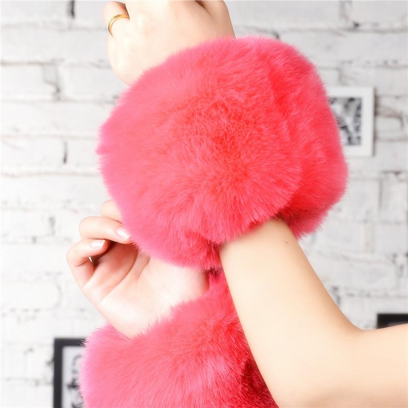2014 new winter warm new cuff sleeves rabbit plush fox sleeves warm wrist shipping(China (Mainland))