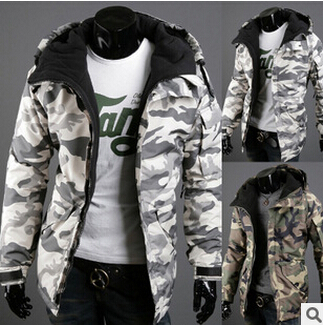 2015 New Wave winter Clothes Padded cotton Hooded men Camouflage Jacket thick Winter Jackets - yixiaoerguo's store