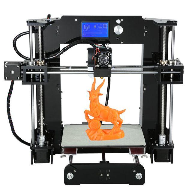 Анет A6 и A8 Большой Размер Высокая Точность Reprap Prusa i3 ПОДЕЛКИ 3D Комплект Принтера с Алюминиевым Очагом и 1 Рулона Нити и SD Карт и ЖК-