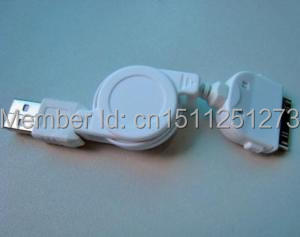 Retractable USB Charger CABLE FOR Iphone itouch #9858 gxp(China (Mainland))
