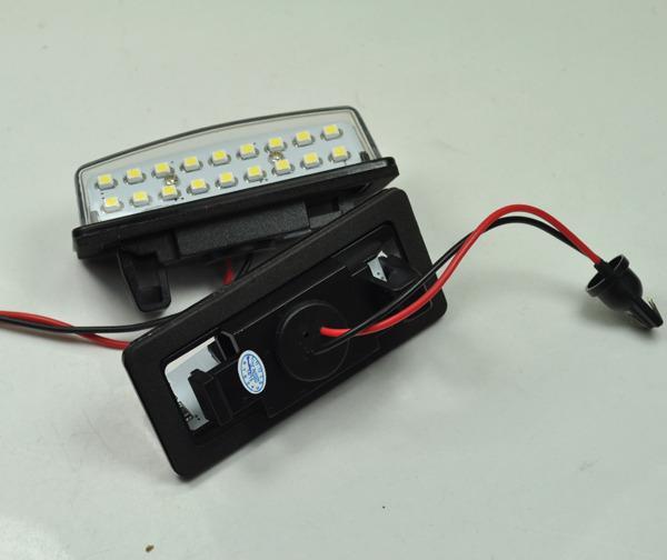 2Pcs Xenon White LED License Registration Plate Light Bulb Upgrade for Nissan TEANA Maxima Cefiro(China (Mainland))