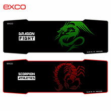 new arrived hot selling big cloth rubber large long professional gaming mouse pad Red Scorpio pad to mouse with locking edge