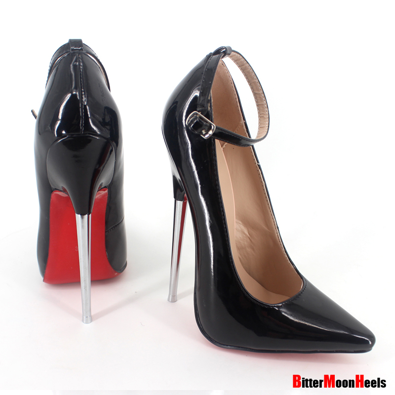 Фотография Sexy Womens ladies high stiletto fetish pointed pumps shoes large size US5-US14