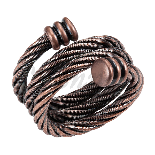 2016 Ladies Antique Copper Fashion Spring Magnetic Ring Resizable Female Magnets Women Jewelry Hong Kong Post Free Shipping(China (Mainland))