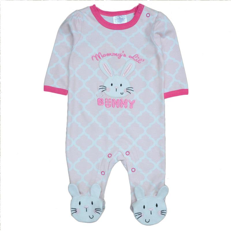Kiddiezoom Baby Girl Clothes Bunny Similar Baby Boy Romper Newborn Clothing Long Sleeve Infant Product roupa infantil(China (Mainland))