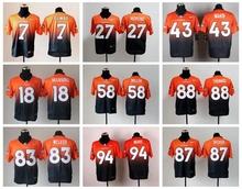 Denver Broncos Drift Fashion II Elite Peyton Manning,Von Miller,DeMarcus Ware,Demaryius Thomas,Derek Wolfe,Ward,Paxton Lynch(China (Mainland))