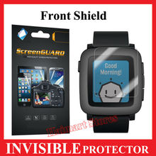 Premium Military Grade INVISIBLE FRONT MATTE Anti Shock & Scrach Screen Protector Shield For Pebble Time Smart Watch