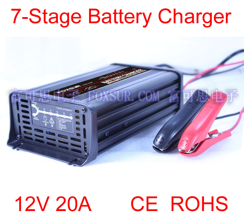 12V 20A 7-stage smart Lead Acid Battery Charger, Car battery charger, MCU controlled, pulse charge(China (Mainland))