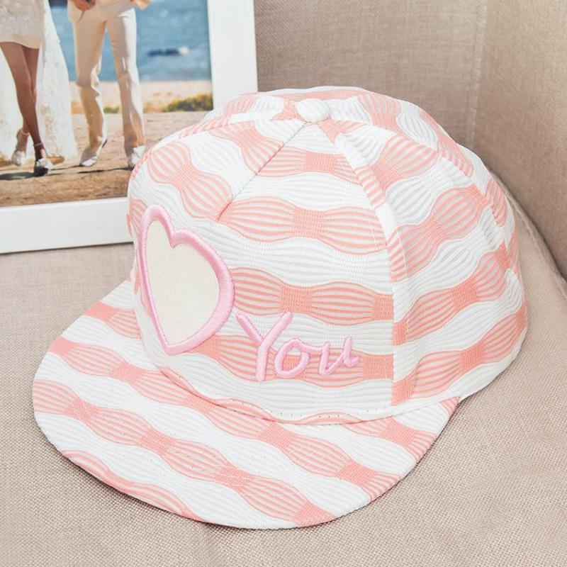 Embroidery Letter Love Flat Cap Hip Hop Stripe Snapback Hats For Women Men Baseball Cap Outdoor Sun Visor Hat Casquette(China (Mainland))