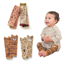 4Pair/lot Kids Leg Warmers Baby Cartoon Animal Lmage Knee Pads Cotton Children Anti-mosquito Boy Girls Socks For 0-5 Year(China (Mainland))