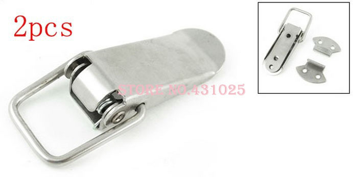 2Sets Hardware Silver Tone Chests Case Toolbox Stainless Steel Toggle Latch(China (Mainland))