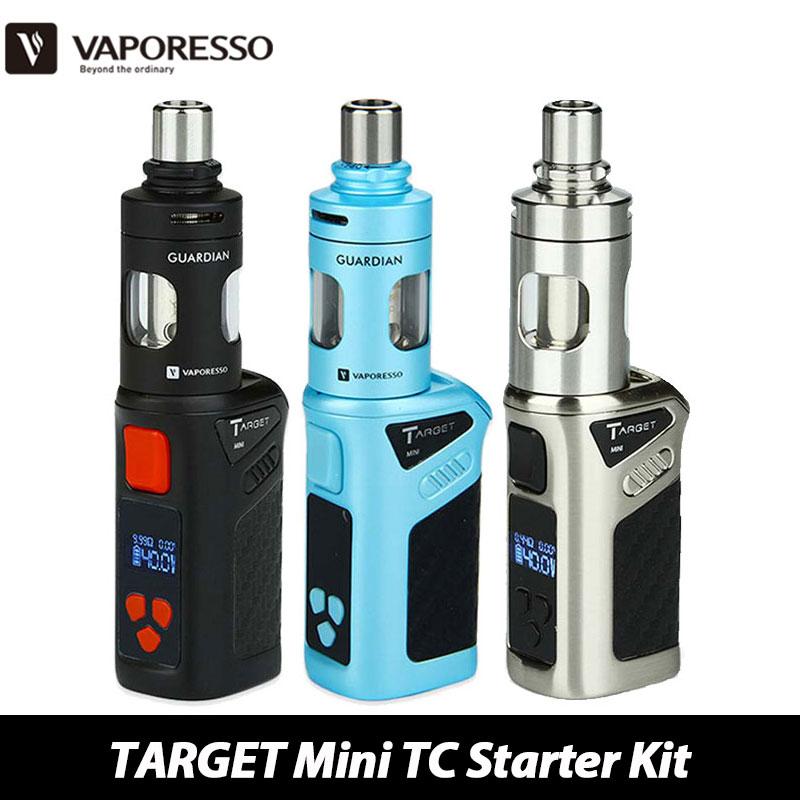 100% Original Vaporesso TARGET Mini TC Electronic Cigarette Kit 40W VW/VT (Ni,SS,Ti) 1400mAH Battery Mod and 2.0ml Guardian Tank(China (Mainland))