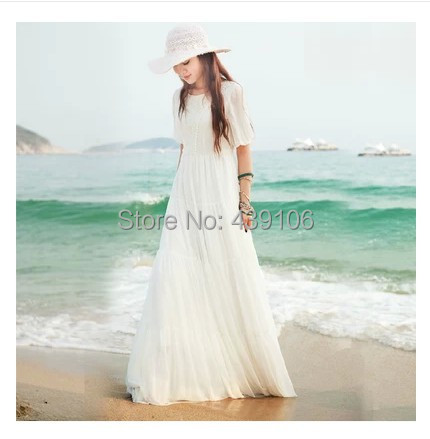 2015 new bohemian beach dress chiffon dress summer seaside resort big swing dress childОдежда и ак�е��уары<br><br><br>Aliexpress