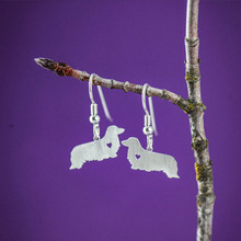 Buy SALE Dachshund LH Dog Earrings Silver Dangle Charm Earrings women Bijoux Jewelry Brincos Pendientes Mujer for $31.30 in AliExpress store