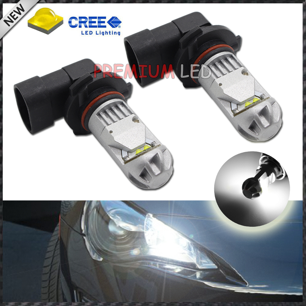 2pcs High Power Super Bright 6000K Xenon White CREE XB-D 9006 HB4 9012 LED Replacement Bulbs For Fog Lights, Driving Lights