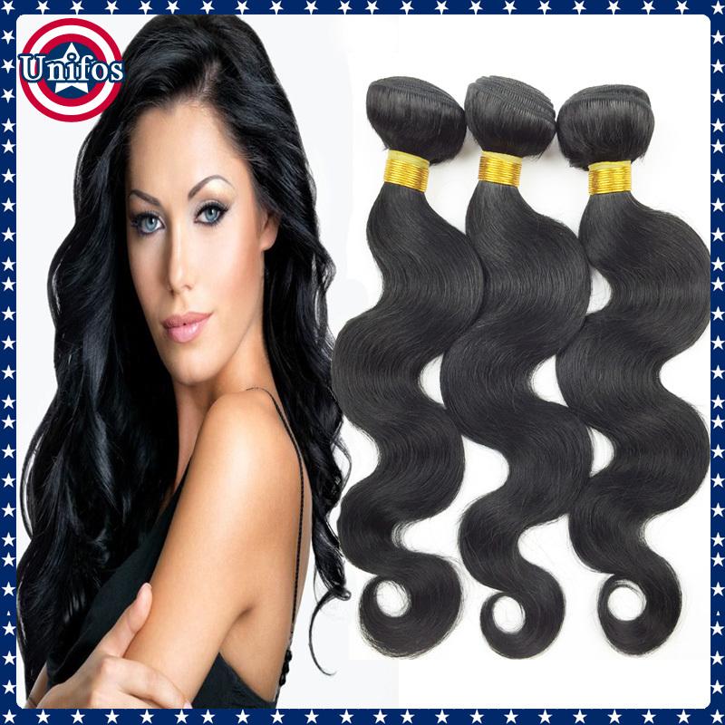 Best Human Hair Extensions Brazilian Virgin Hair Body Wave Wholesale Hair 5 pcs Cheap Jet Black Brazilian Body Wave Virgin Hair(China (Mainland))