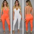 2016 New Arrival Women Jumpsuits Sleeveless Sexy Letter Female Rompers Fashionable Long O Collar Solid Jumpsuit Hot Sale