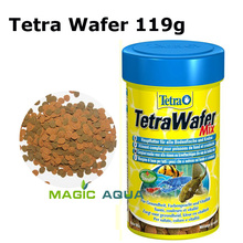 Free shipping Tetra 119g Wafer Flakes Canister Feeder Pet Supplies Bottom-feeding Fish Food Crustaceans(China (Mainland))