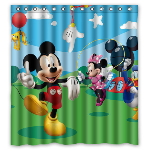 Laura Ashley Shower Curtains Mickey Mouse Clubhouse Wi