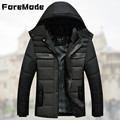 ForeMode 2016 New Men Winter Cotton padded Jacket Man with Thick Cotton padded Clothes Men s