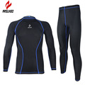 ARSUXEO Athletic compression tights base layer running Fitness bodybuilding men GYM Clothes shirt jersey