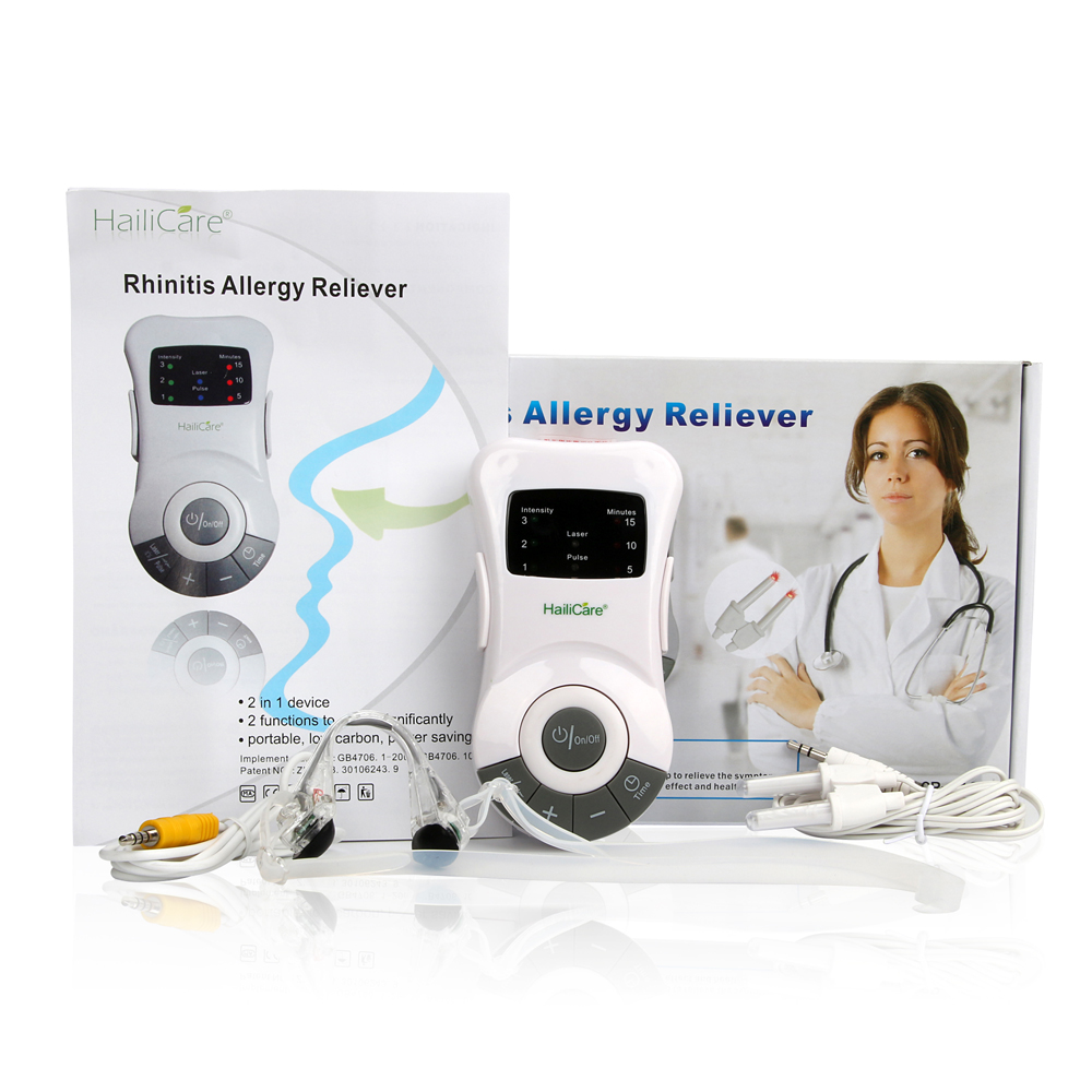 HailiCare Allergy Reliever Massage Low Frequency Laser Rhinitis Therapy Massager Machine Health Monitor Massageador(China (Mainland))