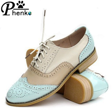 Гаджет  New 2015 Fashion Vintage Oxfords Shoes for Women Comfortable Low Heel British Style Women Oxfords 42 43  free shipping None Обувь
